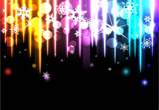 Disco background with snowflakes. Royalty Free Stock Images
