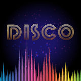 Disco background with soundwaves Royalty Free Stock Photography