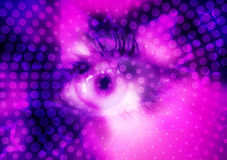 Disco background. With stars music style. Eye on center Stock Images
