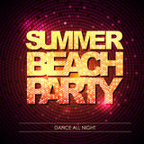 Disco background. Summer beach party Stock Image