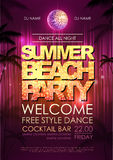 Disco background. Summer beach party Stock Images