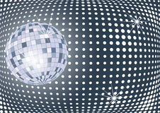 Disco ball. Shining disco ball with sparcles stock illustration
