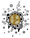 Disco Ball. Vector abstract background with disco ball Royalty Free Stock Photos