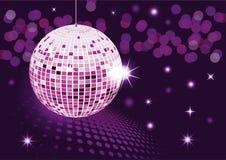 Disco ball. Vector illustration - Mirror disco ball Royalty Free Stock Photo