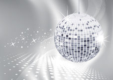 Disco ball. Abstract background night party Vector Illustration