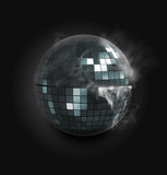 Disco Ball. 3d rendered illustration of a disco sphere in smoke Royalty Free Stock Photo