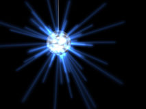 Disco ball. Blue rays in disco ball vector illustration