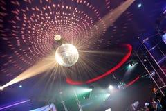 A Disco Ball. In an nightclub Royalty Free Stock Photo