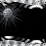 Disco ball. Retro party background with disco ball, illustration Stock Photography