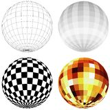 Disco Ball. Colored illustration Royalty Free Stock Image