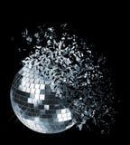 Disco Ball. Exploding disco ball on black Stock Photos