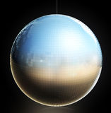 Disco Ball. A 3D disco ball isolated on black Royalty Free Stock Image