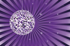 Disco ball. Music background - disco ball in violer color vector illustration