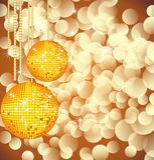 Disco ball. On lights background vector illustration
