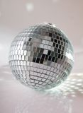 Disco ball. On grey background Stock Images