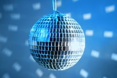 Disco ball. On the party Stock Images