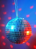 Disco ball. On dark background Royalty Free Stock Image