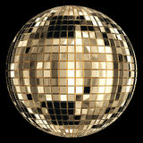 Disco ball. Gold disco ball with glitters Stock Photo