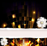 Disco ball. Dark Flower Background Royalty Free Illustration