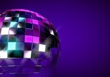 Disco ball. 3D render of disco ball background Royalty Free Stock Photos