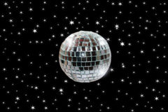 Disco ball 2 with path stock photography