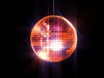 Disco ball. Party disco mirrored ball on chain Royalty Free Stock Photo