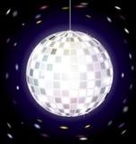 Disco ball. On dark background is big specular disco ball Stock Photos