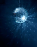 Disco Ball. On blue background with copyspace Stock Photos