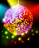 Disco ball. Celebratory background with disco ball Stock Illustration