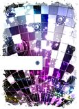 Disco ball. Grunge abstract background with place for text Royalty Free Illustration