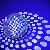 Disco ball. A disco ball with reflections and copy space royalty free illustration