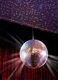 Disco ball. Party lights disco ball and spots Royalty Free Illustration