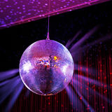Disco ball. Party lights disco ball and spots Stock Illustration