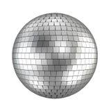 Disco ball. 3d render on white Royalty Free Stock Photo