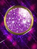 Disco ball. Illustration of abstract music background with disco ball Royalty Free Illustration