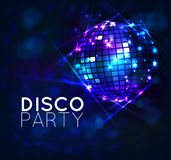 Disco ball. Background with disco ball,banner Stock Images