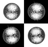 Disco Ball. On Black And White Background vector illustration