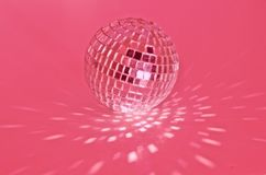 Disco ball. Bright pink diso ball Stock Photography