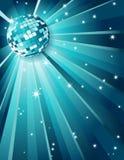 Disco ball. Vector illustration - Mirror disco ball royalty free illustration