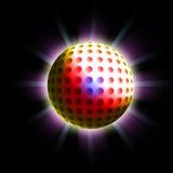 Disco ball. A shiny disco ball on black background Royalty Free Stock Photo
