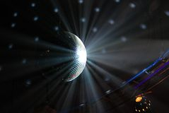 Disco ball. Purple disco ball close-up Stock Images