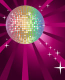 Disco Ball. Background with shining disco ball stock illustration