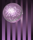 Disco Ball. Abstract background with shining disco ball stock illustration