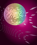 Disco Ball. Abstract background with shining disco ball Stock Image