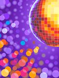 Disco ball. Dance dancefloor background Royalty Free Stock Photography