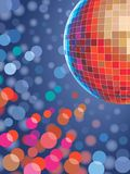 Disco ball. 80 action background Stock Photos