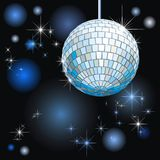 Disco-ball. Background with disco-ball and lights Royalty Free Stock Photos