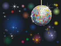 Disco-ball. Background with disco-ball and lights royalty free illustration