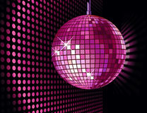 Disco ball. Vector background with disco ball for valentine's party Royalty Free Stock Photography