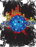 Disco ball. Music background with disco ball Royalty Free Stock Image